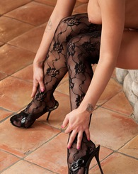 Rhian Alise pulls down her tight black panties