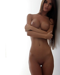 Katrina,Come Closer FHG,The sleek curves of Katrina's body are stunning in soft white light...